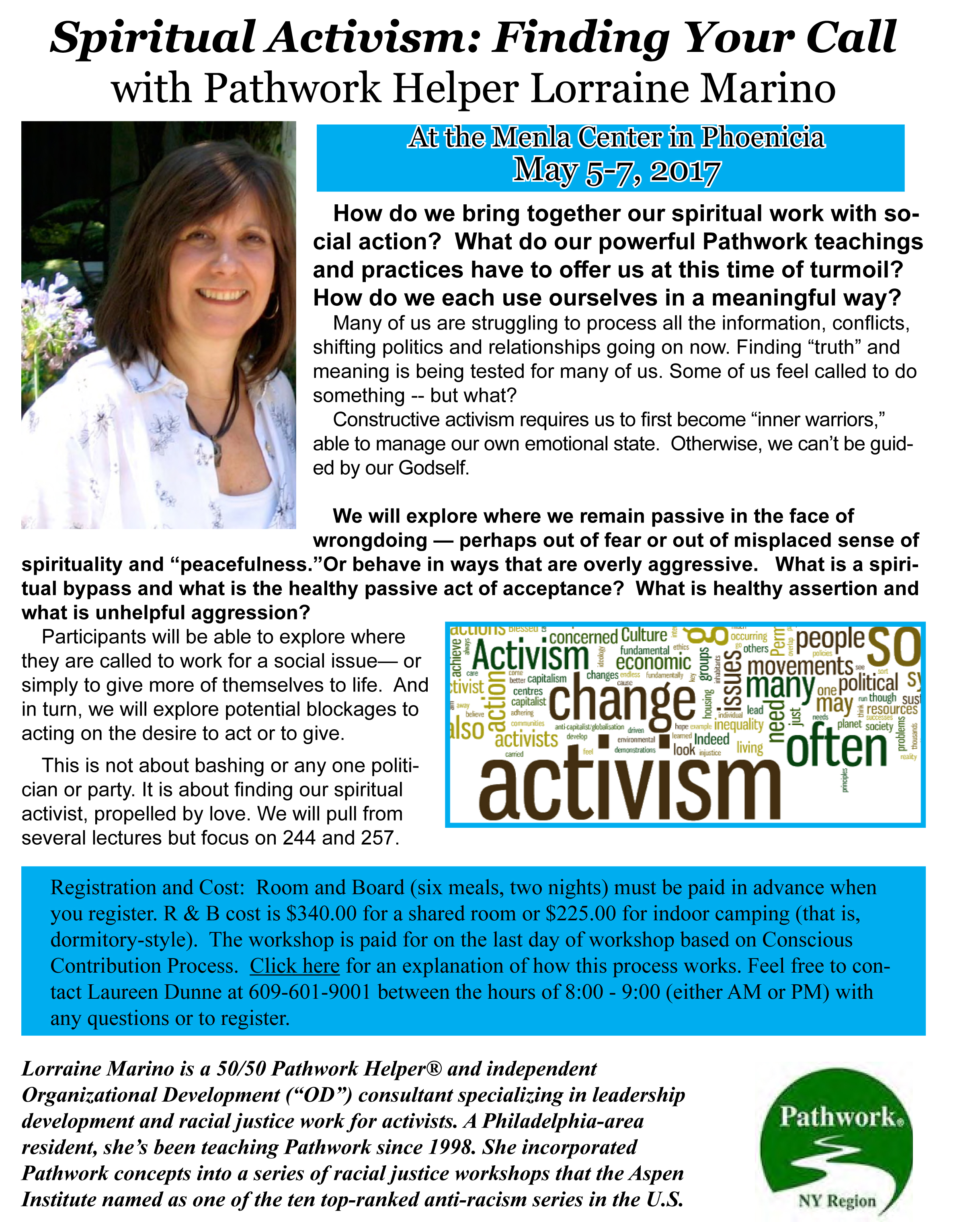 Spiritual Activism Workshop Flyer